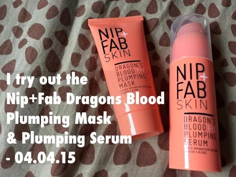I try the Nip + Fab Dragons Blood Plumping Mask & Serum - 04.04.15