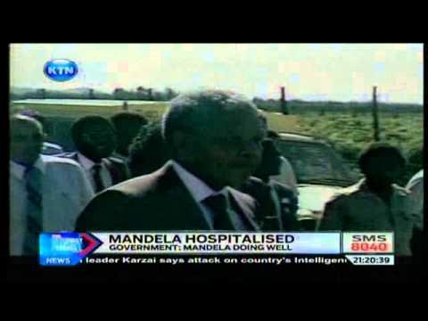 News : Nelson Mandela hospitalised