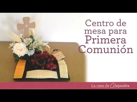 arreglos de primera comunión - How to make a centerpiece for First Communion with flowers and fruit Recuerda, soy Alejandra Coghlan y estás en mi casa que es tu casa. Me puedes encontrar e...
