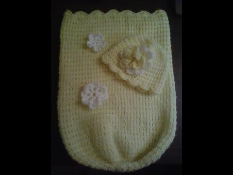 How to #crochetbabycocoon.-  Easy level  - Cocoon de bebe en crochet