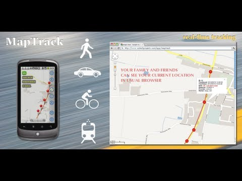 Video of Map Track  GPS real time track