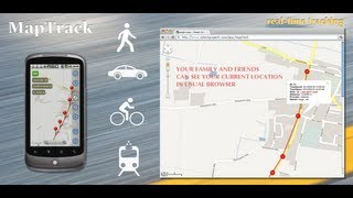 MapTrack  GPS real time track YouTube video