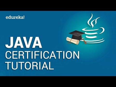 Java Certification Tutorial | Java Tutorial For Beginners | Java Training | Edureka