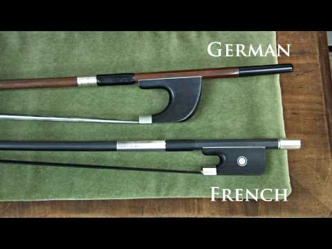 French vs German Bass Bow Grips