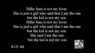 michael jackson billy jean lyrics