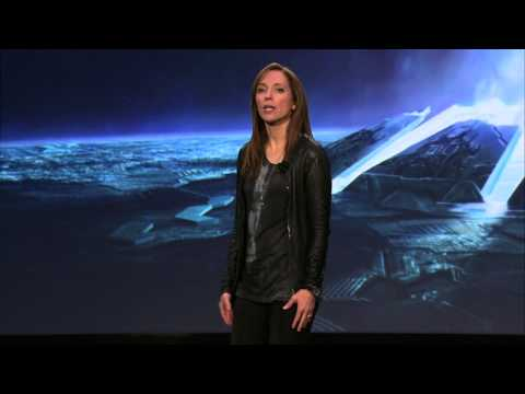 halo - Nancy Tellem's Xbox Entertainment Studios announcements of Halo TV with 343 Industries and Steven Spielberg and NFL from Xbox One Reveal Press Briefing.