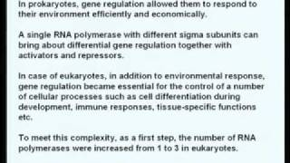 Mod-01 Lec-01 Eukaryotic RNA Polymerases And Basal Transcription Factors