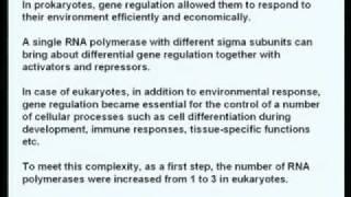 Mod-01 Lec-01 Eukaryotic RNA Polymerases And Basal Transcription Factors