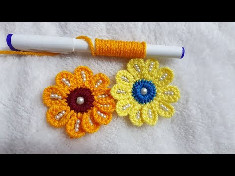 Wow Amazing Making Hack Needle Trick Hand Embroidery Easy Flower Design #100