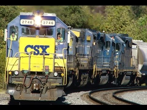 CSX Train With 7 Engines !