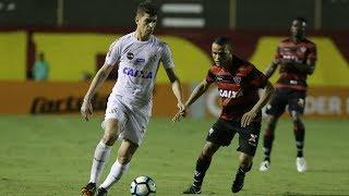 Vitória decepciona e perde para o Santos no Barradão.Gols: Copete (2).