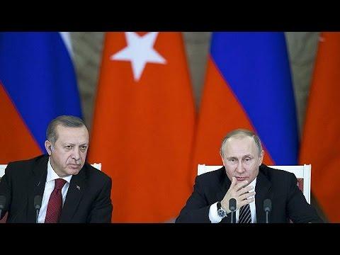 Συνεργασία σε πολλούς τομείς συμφώνησαν Πούτιν- Ερντογάν