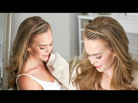 Braid hairstyles - Lace Headband Braid  Missy Sue