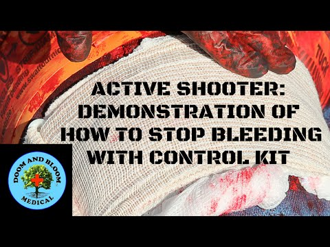Active Shooter: How to Stop Bleeding Demonstration with a Control Kit