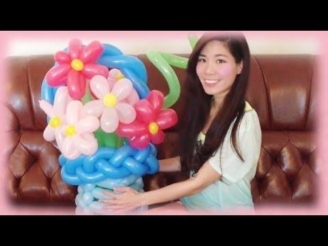 DIY Flower Balloon Art Tutorial – Gift idea for Mother's Day