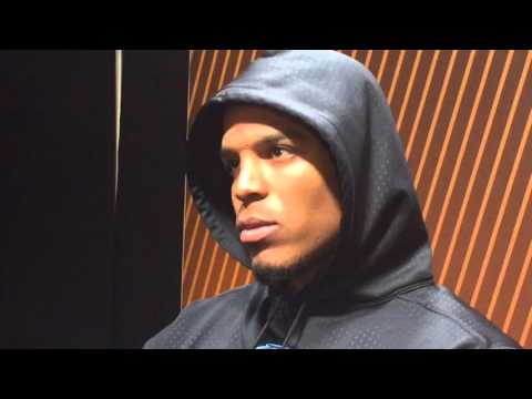 Cam Newton Goes Quiet, Press Conference After Super Bowl Loss.