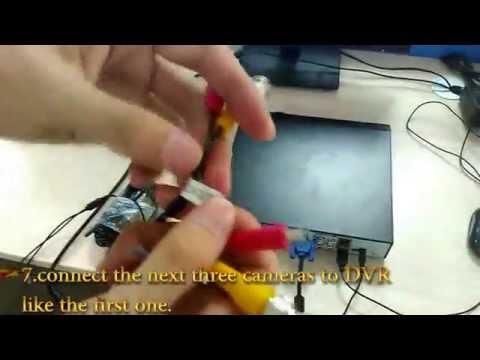 【Floureon US 】#1 How to install Floureon CCTV Kits -- First Step Basic CCTV Dvr Kit Install