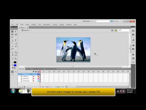 Adobe Flash Professional CS5 tutorial - fade-in fade-out