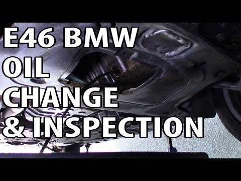 BMW 330i 325i E46 Oil Change and Inspection
