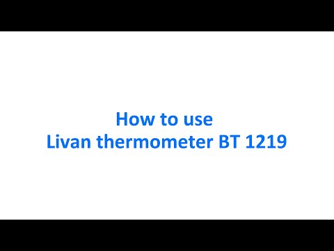 How to use ( install )  Livan thermometer BT 1219