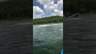 5. Wake surf action at Heber Springs