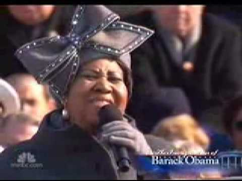 Aretha chante pour l'investiture de Barack Obama