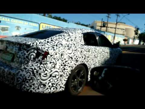 Flagra - Nova geração do Honda Civic (rodando camuflado em Santa Barbara d' Oeste - SP) - Vídeo 2