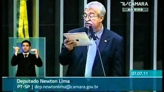 Notas Taquigráficas - Deputado Newton Lima (PT-SP) - Sr. Presidente, Sras. e Srs. Deputados, compartilho com V.Exas., nesta tarde, uma informação ...