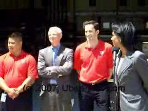 Condoleezza Rice speaks at NASA Ames Research Center