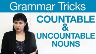 Countable and Uncountable Nouns, English Grammar Tricks