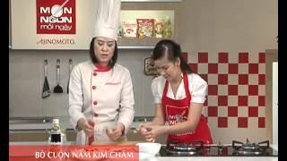 Món Ngon Mỗi Ngày - Bò cuộn nấm kim châm