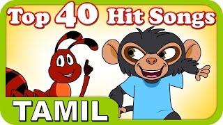 Top 40 Hit Songs For Kutties | 1 Hour! | Best Tamil Cartoon Nursery Rhymes For Kids