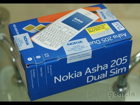 Nokia Asha 205 unboxing and review