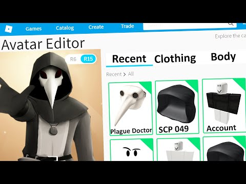 MAKING SCP 049 a ROBLOX ACCOUNT (Plague Doctor)