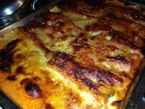 Cannelloni…carne, spinaci e ricotta.
