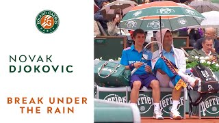 French open in the rain with Novak Djokovic - YouTube