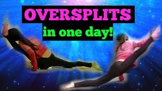 How to get OVERSPLITS in ONE DAY! - YouTube