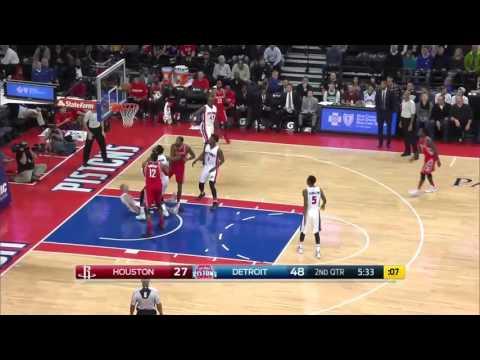 NBA Highlights: Rockets @ Pistons 11/30/2015