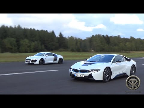 DRAG RACE: BMW I8 Vs Audi R8 V8
