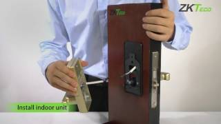 ML10 fingerprit door lock Installation tutorial