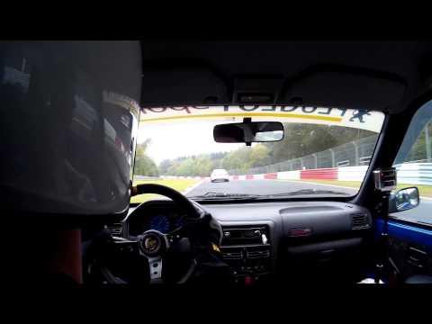 Peugeot 106 S2 Rallye Nürburgring Nordschleife VLN On-Board 18-10-2015 (видео)