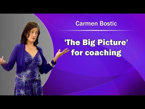 'The Big Picture' for coaching - Carmen Bostic St. Clair
