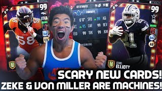 WE PICK UP TWO NEW OVERPOWERED CARDS! WE 99 OVR EZEKIEL ELLIOTT AND VON MILLER THAT ARE PLAYMAKERS! WE TEST THEM IN GAMES AFTER WE OPEN PACKS! MY LIVESTREAM CHANNEL:https://www.twitch.tv/kaykayesLike, comment, SUBSCRIBE!FOLLOW MY LIFE HERE:https://www.twitter.com/KayKayEssshttps://www.instagram.com/KayKayEs