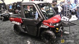 2. 2017 Can Am Defender XT Cab HD10 Utility ATV - Walkaround - 2016 AIMExpo Orlando