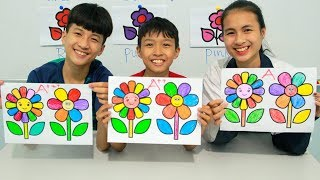 Video Kids go to School Learn Coloring Flowers | Classroom Funny Nursery Rhymes MP3, 3GP, MP4, WEBM, AVI, FLV April 2019