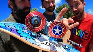 Video CAPTAIN AMERICA FIDGET SPINNER WHEELS! MP3, 3GP, MP4, WEBM, AVI, FLV Juni 2017