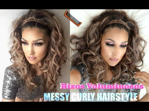 @auroramakeup - Rizos VOLUMINOSOS ( MESSY CURLY Hairstyle TUTORIAL) PROM Graduacion Wedding Boda