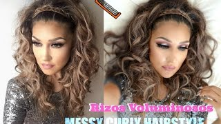 Rizos VOLUMINOSOS ( MESSY CURLY Hairstyle TUTORIAL) - YouTube