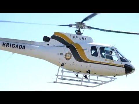 Resgate Helicóptero - Batalhão de Aviação da BM - Maquiné município da Barra do Ouro  2015