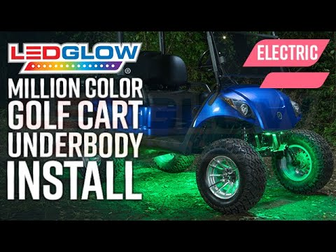 LEDGlow | How To Install LED Underbody Lights On An Electric Golf Cart